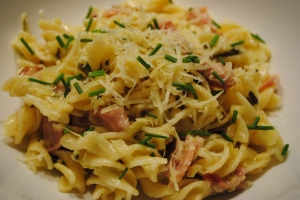 Creamy Lemon and Bacon Pasta