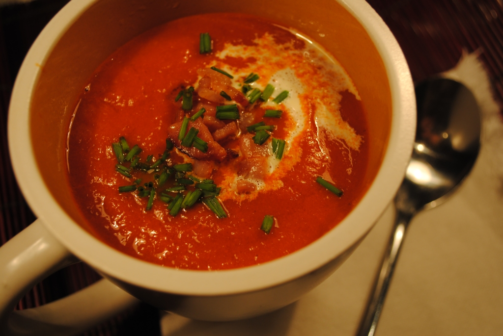 Roast Tomato and Bacon Soup