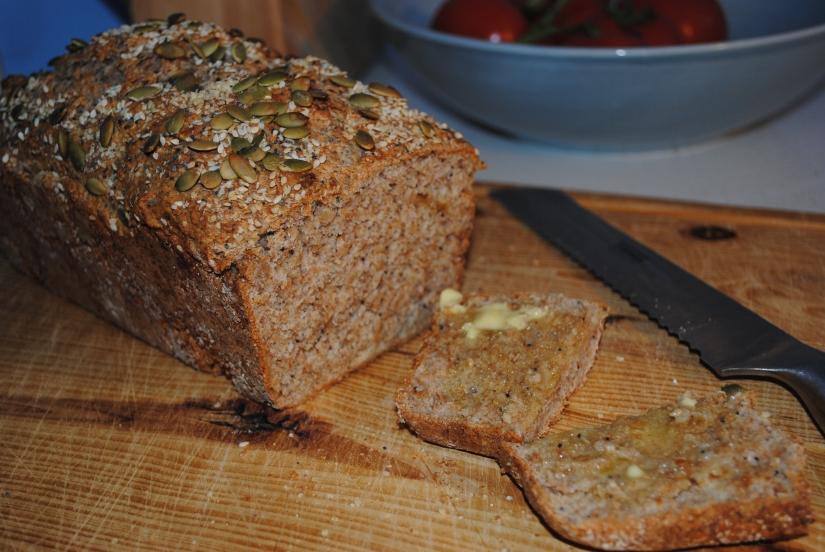 Crusty health bread loaf