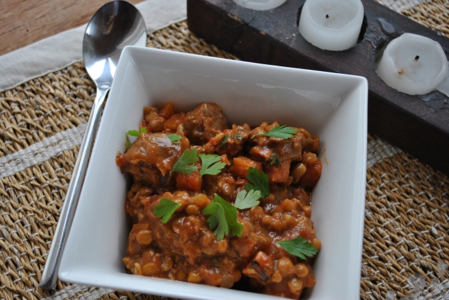 Sausage, Herb and Lentil Stew