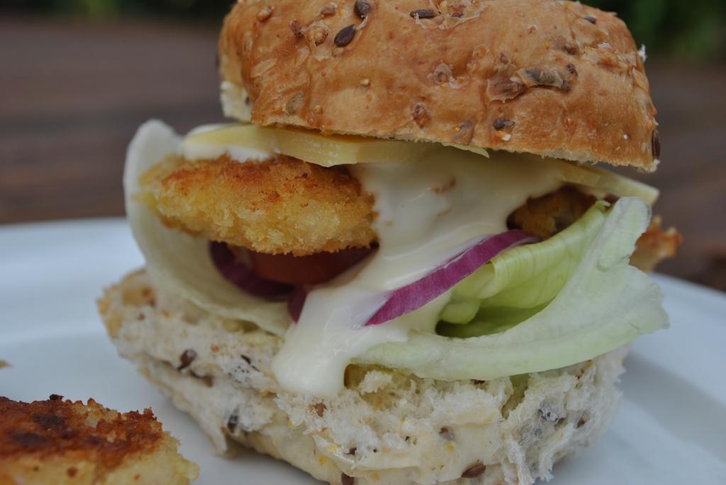 Crumbed Chicken Burger