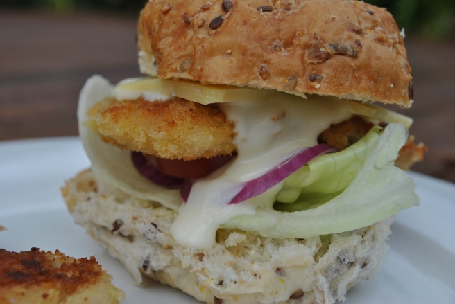 Crumbed Chicken Burger
