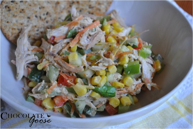 Corn & Gherkin Salad