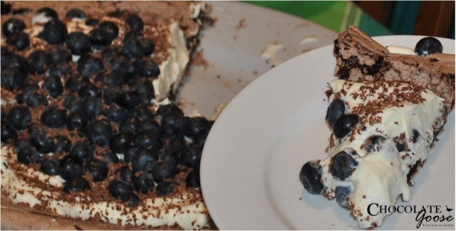 Chocolate Blueberry Pavlova