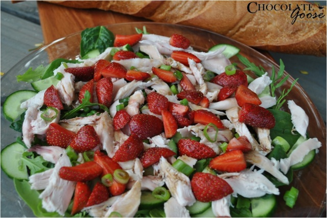 Balsamic Strawberry and Smoked Chicken Salad