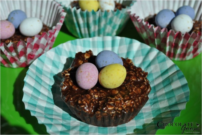 Easter Chocolate Oaty Nests