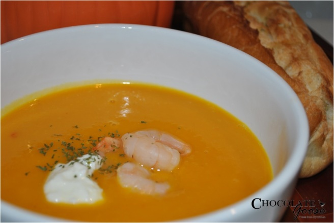 Prawn and Pumpkin Soup