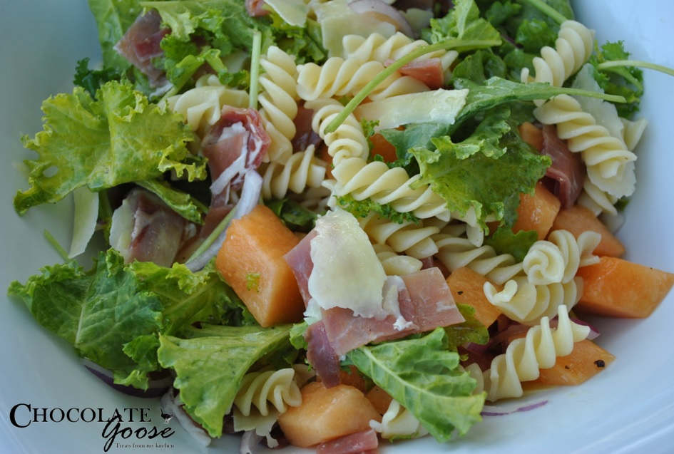Melon, Prosciutto and Kale Salad