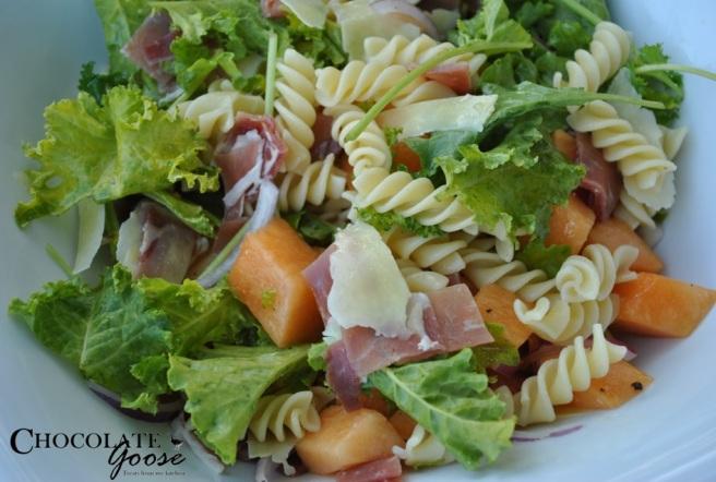 Melon, Prosciutto and Kale Salad