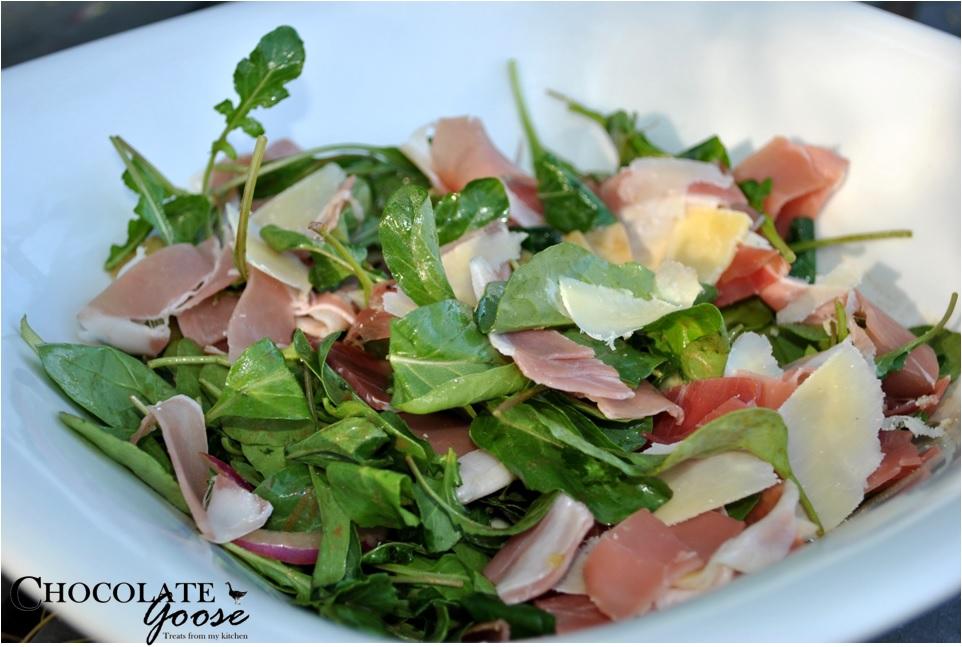 Prosciutto, Avo and Rocket Salad