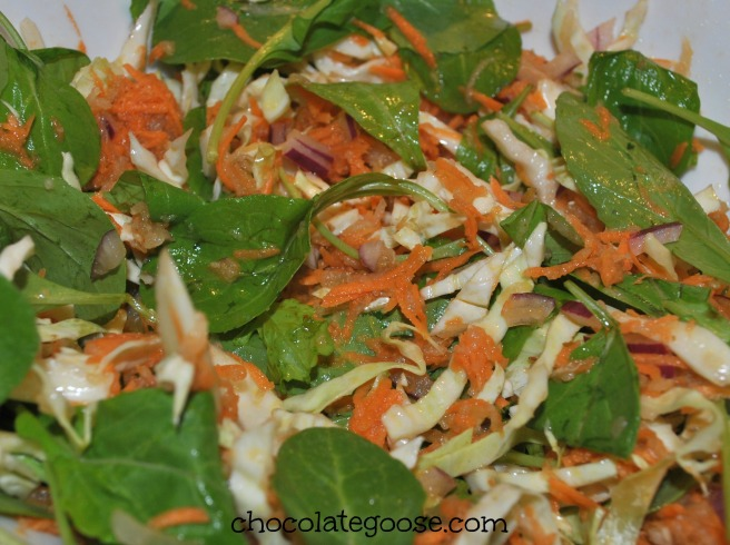 Pear Coleslaw with Red Wine Vinegar Dressing