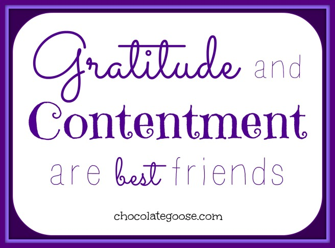Gratitude and Contentment