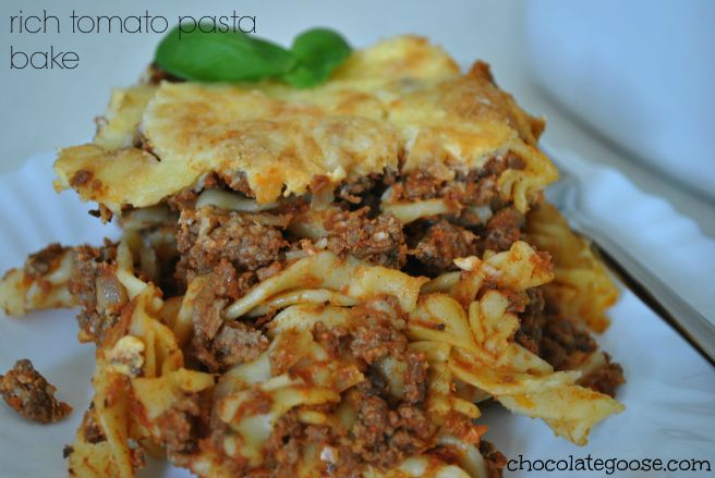 Rich Tomato Pasta Bake 1