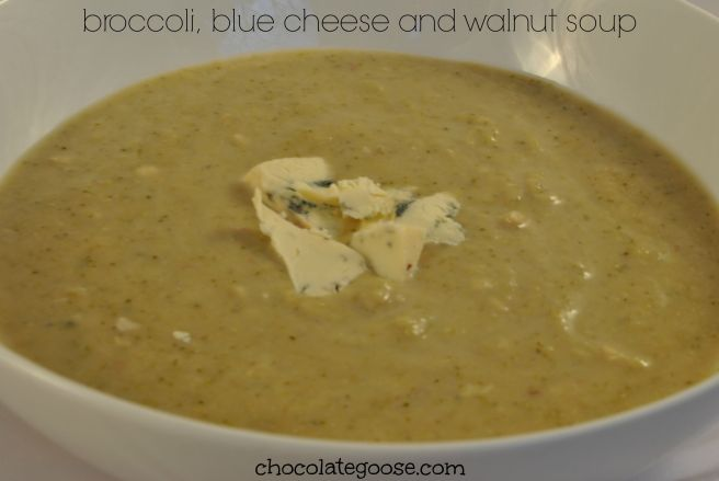 Broccoli, Blue Cheese and Walnut Soup