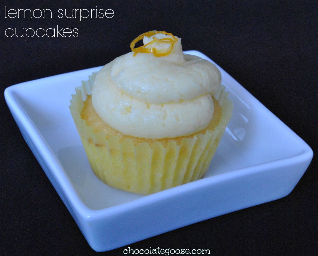 Lemon Surprise Cupcakes