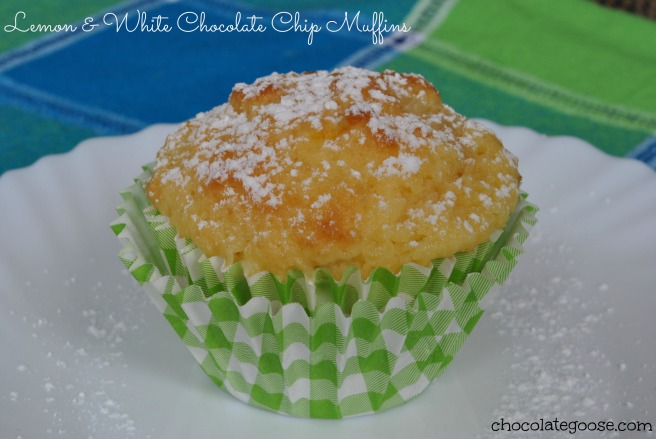 Lemon & White Chocolate Chip Muffins
