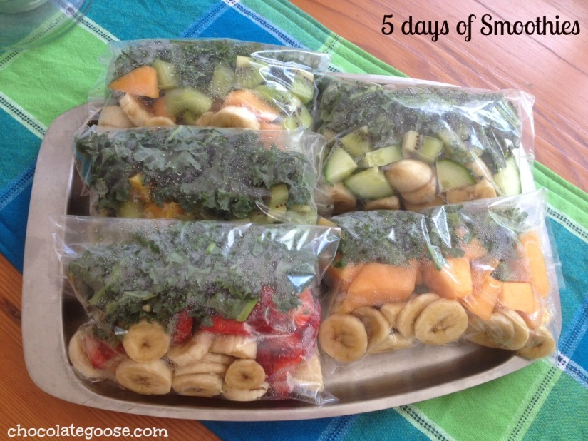 5 days of smoothies