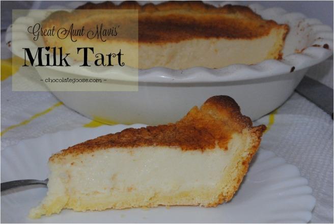 Great Aunt Mavis' Milk Tart