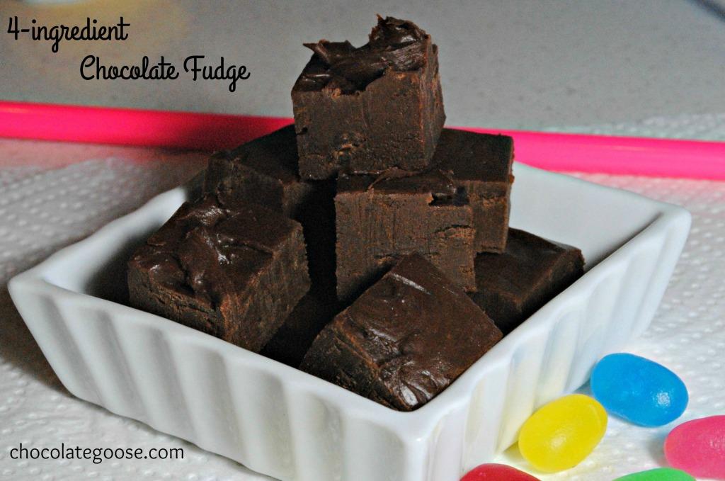 4-ingredient Chocolate Fudge