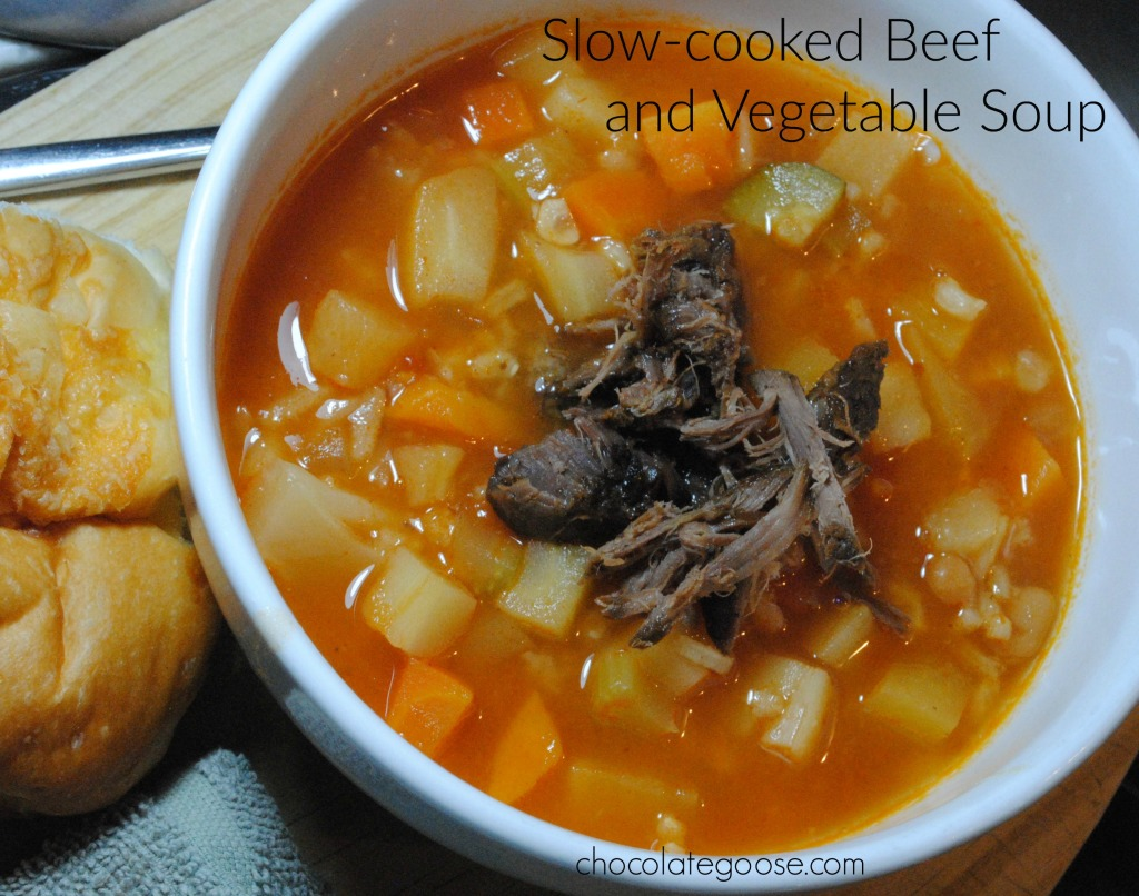 Slow-cooked Beef and Vegetable Soup